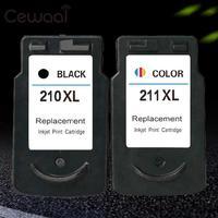 Reemplazo de Cartuchos de Tinta de Impresora De Inyección De Tinta Para Canon Pixma Cewaal PG-210 CL-211 2 Colores