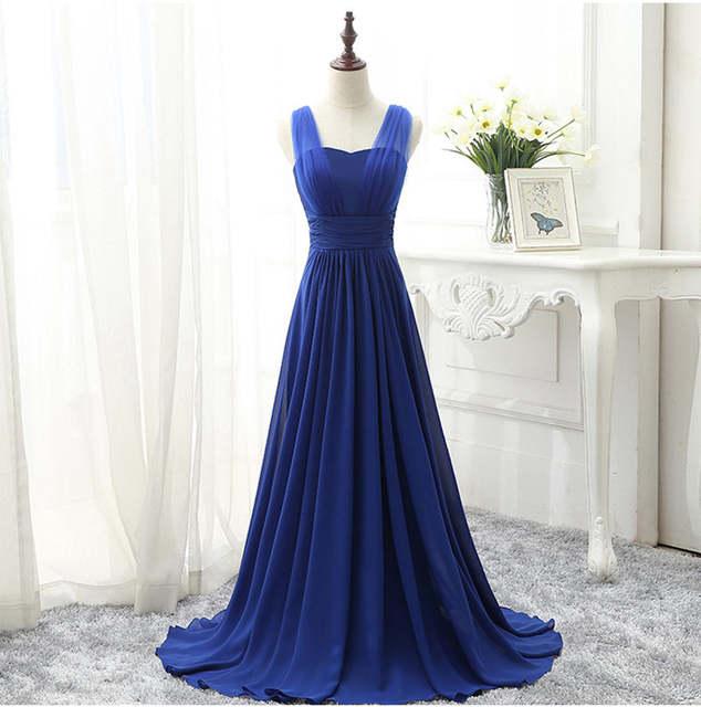placeholder Mint Green Bridesmaid Dress Royal Blue Pink Party Dresses  Chiffon Floor Length Vestido De Festa Cheap 54383546b35d