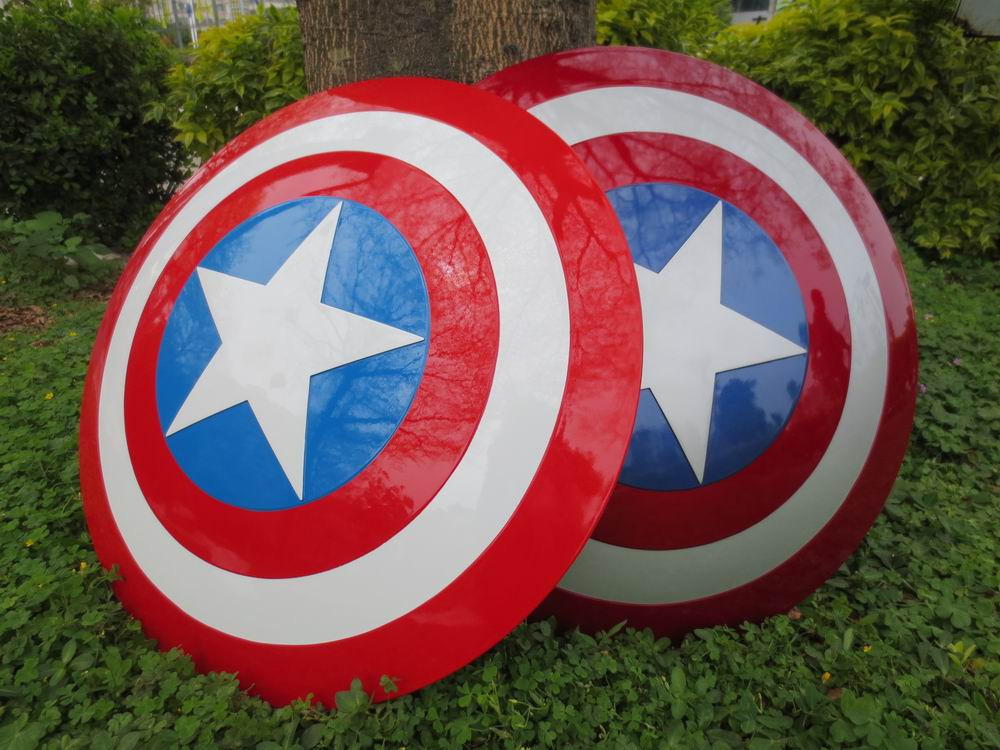 free shipping The Avengers 2 Captain America Shield 1:1 1/1 Cosplay captain america Steve Rogers ABS model adult shield replica metal colour the avengers civil war captain america shield 1 1 1 1 cosplay steve rogers metal model shield adult replica wu525