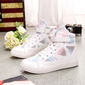 Fashion White Canvas Shoes Women Casual Shoes High Top Female Trainers Skateboard Shoes Basket Chaussure Femme