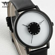 Reloj de los hombres 2016 Relojes Hombres Lujo Marca AMST Cuarzo Reloj Ver completa de Acero para Las Mujeres Casual Nuevo Diseño Correa de Cuero reloj de pulsera