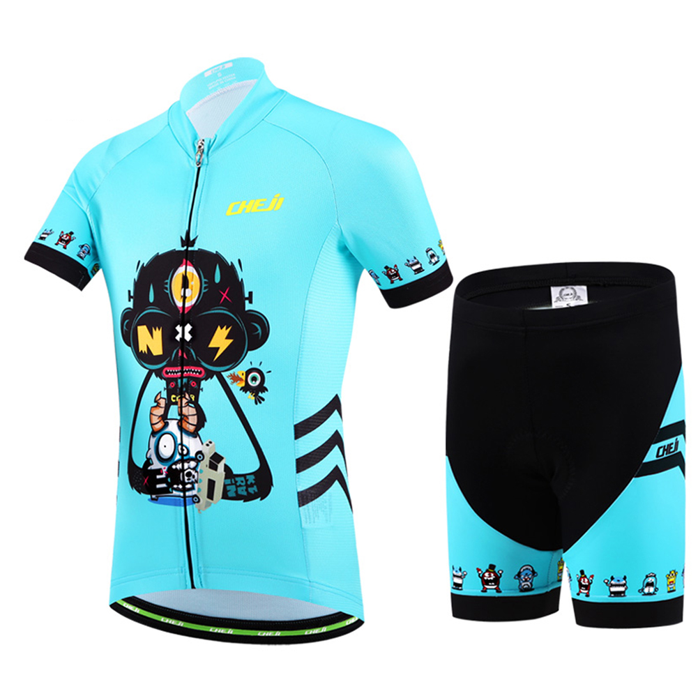 Cycling Jersey Set Children s Bicycle Clothing Short Sleeve Bike Jerseys  Ropa for Boy and Girls Kids 2017 Summer Breathable-in Cycling Sets from  Sports ... 4151366b4