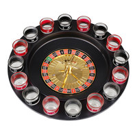 Spin N Shot Roulette Set Drinking Casino Glasses Party Game 16 Cup Glass