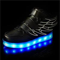 25 37 Size/ USB Charging Basket Led Children Shoes With Light Up Kids Casual Boys Girls Luminous Sneakers Glowing Shoes Infant