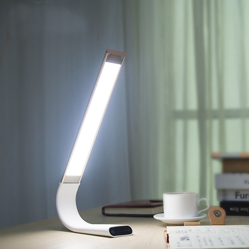 2018 New Arrival LED Desk Lamp 360 degrees Flexible Night Light DC Rechargeable 2000mA Eye Protection Lamp filling light lamp new arrival rgb folding notebook led light 5 colors creative gifts 5v usb rechargeable book lamp eye protecting night lights