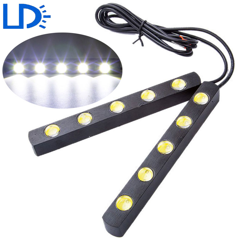 2pc Car DRL Eagle Eye Bar LED Daytime Running Light High Power Auto Driving Lamp Car-styling Day Light Parking Reverse Lamp Lens