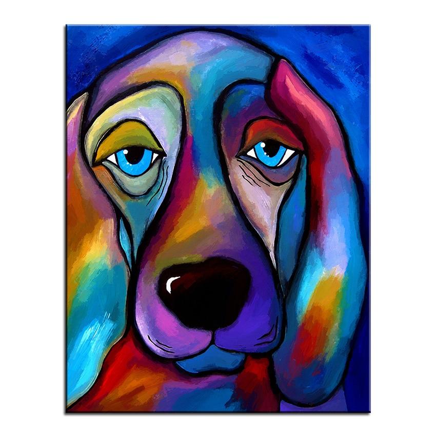Duży rozmiar Druk Obraz olejny Malarstwo ścienne królewski pies - Wystrój domu - Zdjęcie 2