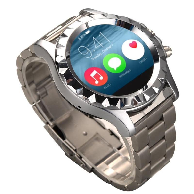 imágenes para Ritmo Cardíaco Symrun Impermeable teléfono de Sincronización Pasómetro para IOS Android Smartwatch Bluetooth Elegante Reloj de Pulsera de Moda