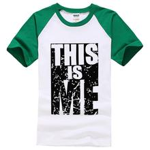 2016 summer shirts this is me letter print men brand male tops funny style short sleeve t shirt new fashion brand black t shirts