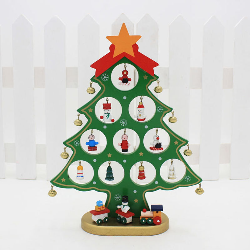 Diy Cartoon Wooden Christmas Tree Decoration Gift Ornament Table Desk D In Toppers From Home Garden On Aliexpress Alibaba
