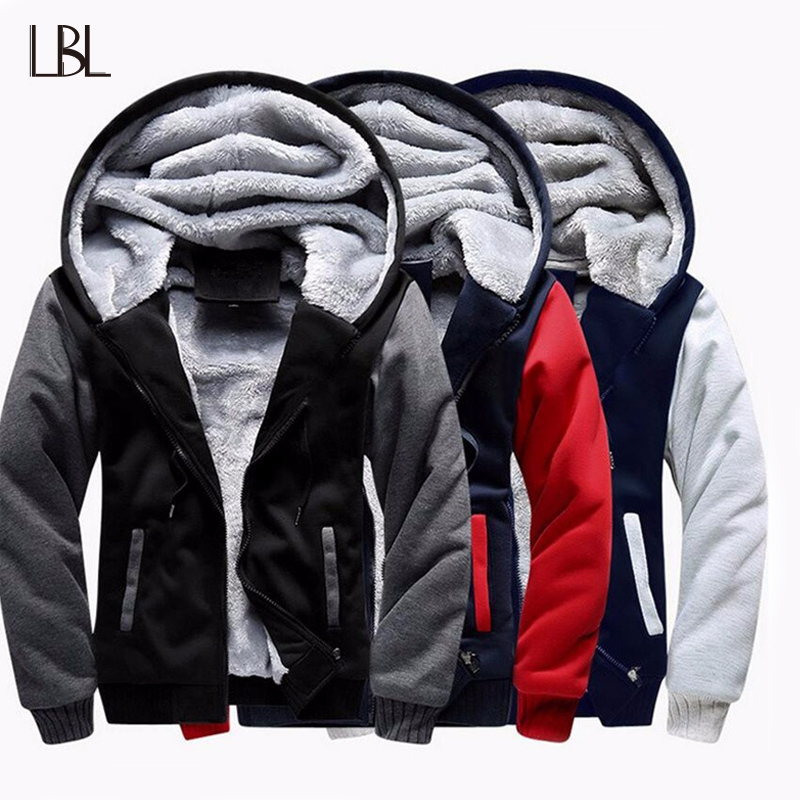Thicken Jacket Men Hoodies Streetwear Mens Tracksuit Coat Hooded Warm Winter Jogger Male Coats Zipper Brand Clothing Plus Size
