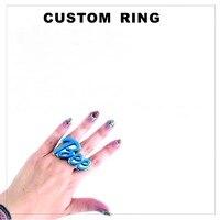 Gepersonaliseerde Acryl Custom Ring Sieraden Gift voor Party