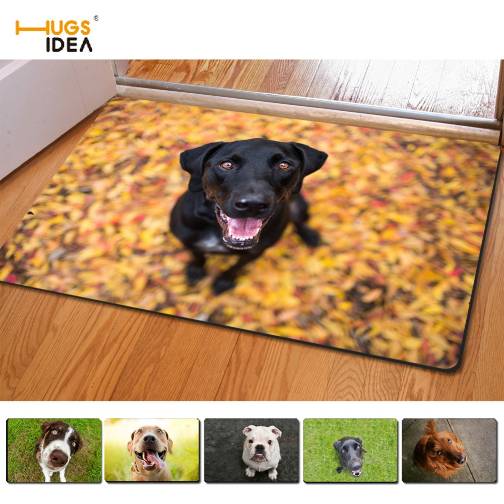 Alfombras Animal Print Us 12 05 33 Off Hugsidea Creative 3d Animal Dog Prints Non Slip Home Floor Carpets For Living Room Bedroom Alfombras Indoor Outdoor Entrance Mat In