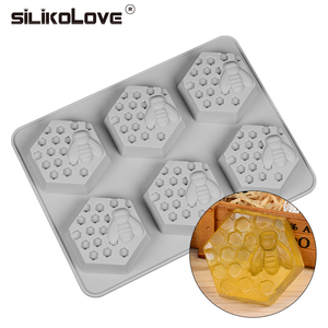 Image 2 - SILIKOLOVE Silicone Mold Bee Soap mold 6 cavity easy to Demolding Handmade Soap Craft For Diy Soap Maker Provide Customizable