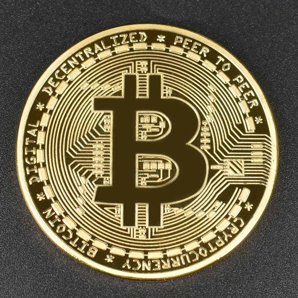 Позолоченные Биткоин Бит монета пульсация Litecoin эфириум коллекция подарок 40 мм криптовалюта монета металлическая памятная монета - Цвет: Gold bitcoin