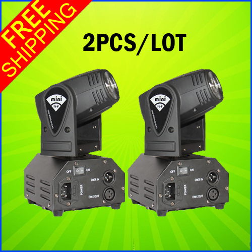 2PCS A Lot 10W Mini LED Moving Head Beam Light DMX DJ Euipments For Stage Party Light High Quality Disco Effect Light 2pcs lot 10w spot moving head light dmx effect stage light disco dj lighting 10w led patterns light for ktv bar club design lamp