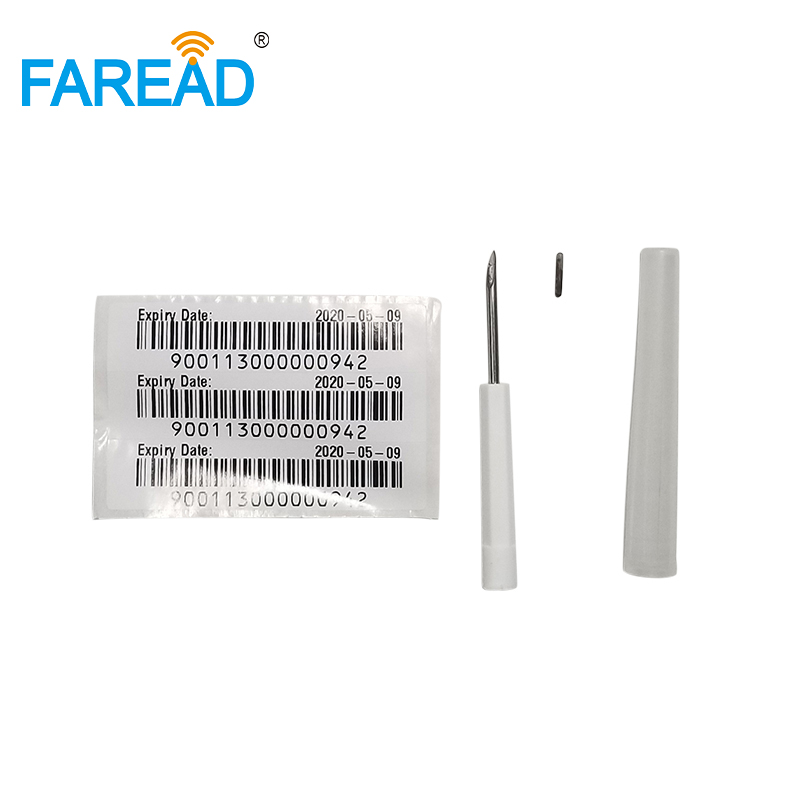 Hot Sale X100pcs RFID ISO Chip 134.2kHz FDX-B 1.4x8mm Verterinary Implantable Transponder With RFID Microchip Needle For Camel