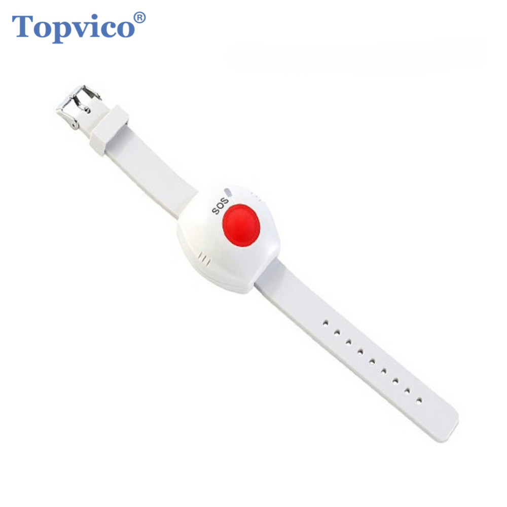 Topvico RF 433mhz Panic Button SOS Emergency Button Elderly Alarm Watch Bracelet Old People GSM Home Security Alarm System