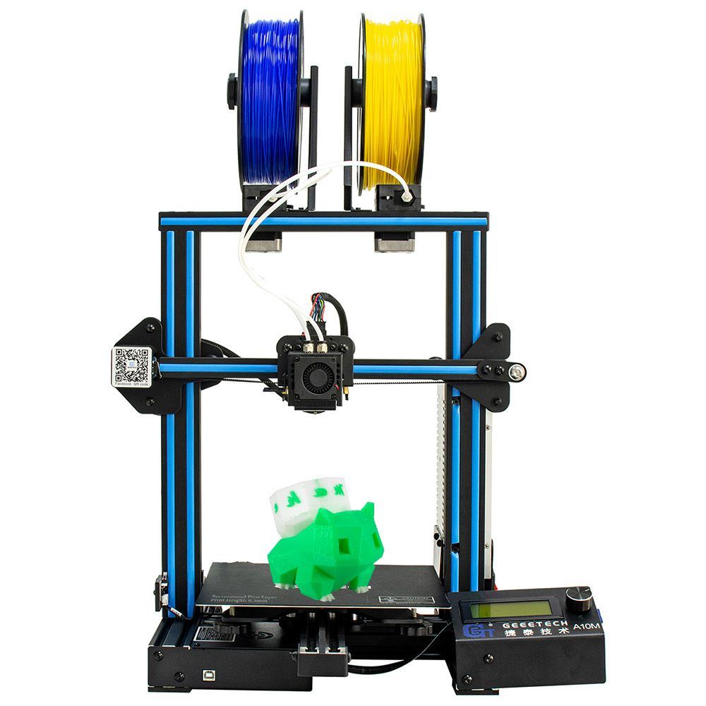 Geeetech 3D Printer A10M 2 In 1 Mixcolor Auto-Leveling Function 220*220*260 3mm Aluminum hotbed Supe
