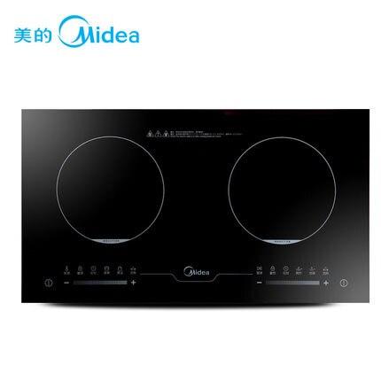 Midea intégré cuisinière électromagnétique cuisinière électrique cuisinière à Induction domestique Double tête commerciale Double cuisinière Pot