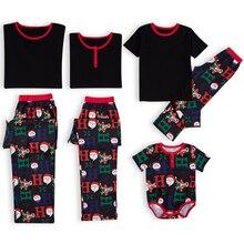 Рождественский комплект одинаковых рождественских пижам для всей семьи, для женщин, мужчин, малышей, детей, Семейный комплект одежды с изображением Санта-Клауса