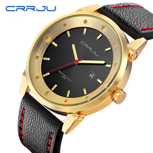 2017 New CRRJU Luxury Brand Military Watches Men Quartz Analog Leather Clock Man Sports Watches Army Watch Relogios Masculino цена