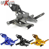 CNC Adjustable Rear Sets Rearset Footrest Foot Rest Pegs For Yamaha MT 07 FZ 07 FZ MT 07 FZ07 MT07 2013 2014 2015 2016 2017 2018
