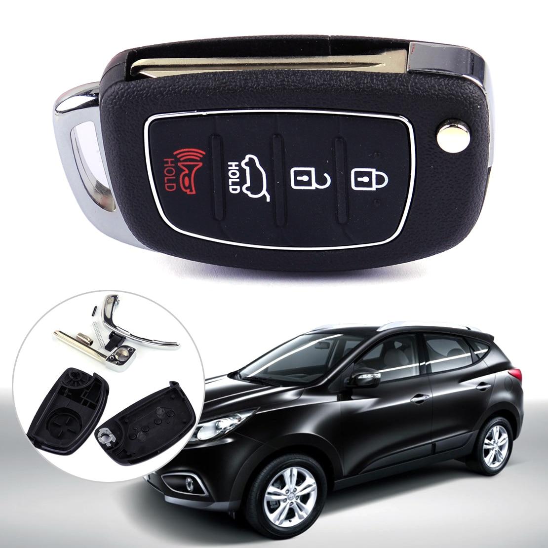 For HYUNDAI ix45 Santa Fe 2013-2014 Flip Key Shell Remote Key Case Fob 4 Buttons