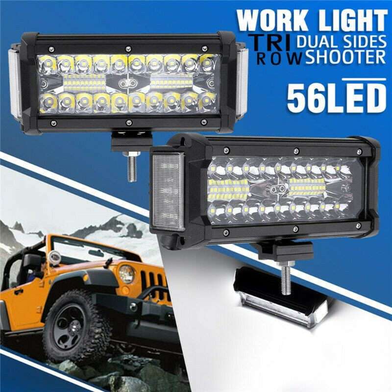 7Inch 168W Waterproof Off Road LED Work LIght Car Light Bar LED Lights For Trucks-in Light Bar/Work Light from Automobiles & Motorcycles on AliExpress - 11.11_Double 11_Singles' Day 1