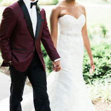 Bridegroom Blazer Suits Burgundy