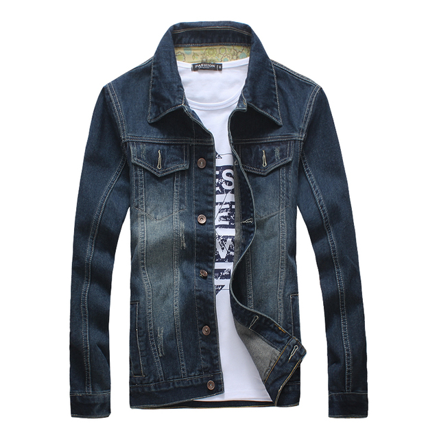 2017 Fashion Casual Men's denim jacket Outwear long sleeve Men's jacket Coats slim Fit Style Designer 2 color M-5xl