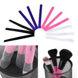 Image 3 - 10pcs Makeup Cosmetic Beauty Brush Protector Pen Guards Make up Brushes Sheath Mesh Netting Protector Cover Makeup Tools