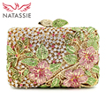 NATASSIE High Quality Luxury Crystal Evening Handbag Women Wedding Purses Lady Party High Quality Day Clutch Bag With Chain