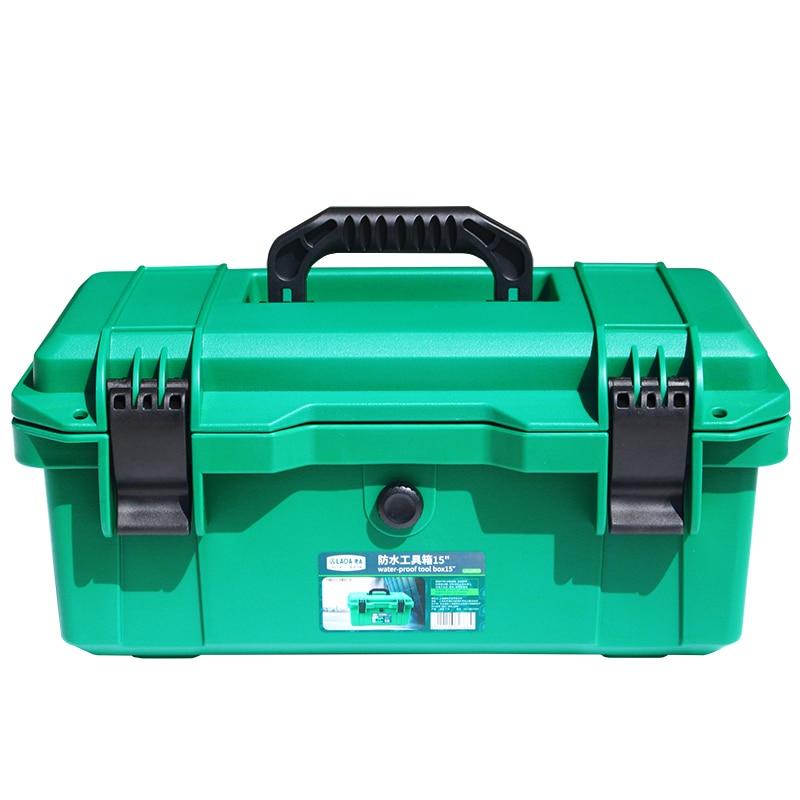 LAOA Waterproof Tool Kit 15 17 19 Tool box Two Layers Seal box Shockproof Case Plastic