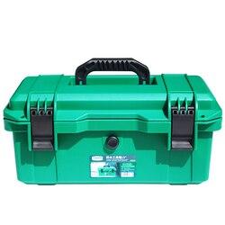 Kit de Ferramentas LAOA À Prova D' Água 15 /17/19 Ferramenta caixa de Duas Camadas caixa de Vedação À Prova de Choque Caso caixa de Ferramentas Mala Portátil de plástico para Ferramentas