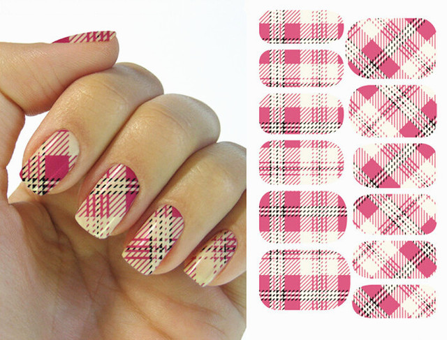 De Transferencia de agua Nail Art Stickers Decal Completa Wraps ...