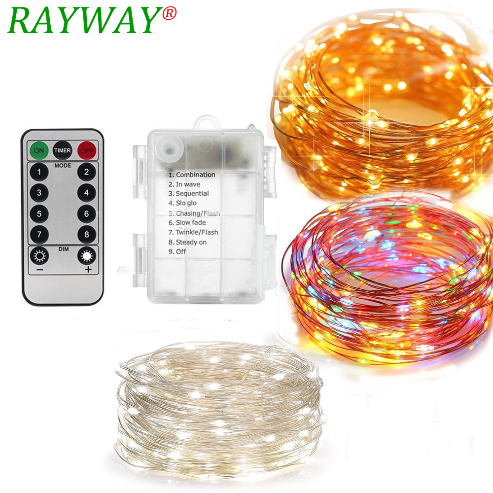 10m Waterproof Remote Control Fairy Lights Battery