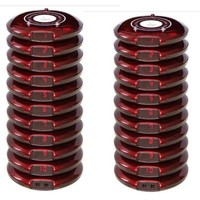 Free shipping! Coaster paging system, customer service, 20 guest Pagers, wireless Queuing System receiver, take food pagers