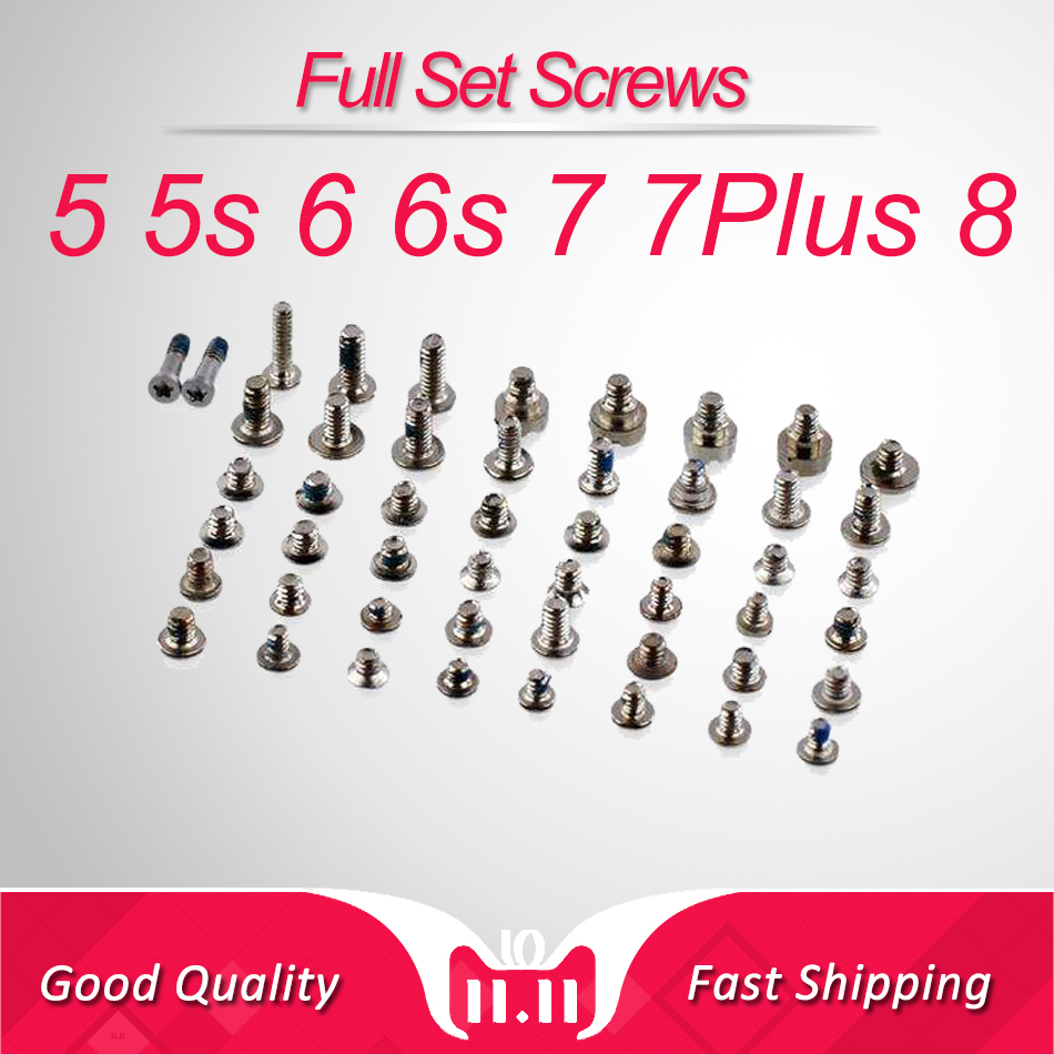 Full Screw Set for iPhone 6 7 Plus Repair bolt Complete Kit Replacement Repair Part for iPhone 5 5s Assembly 6s image