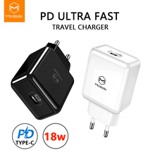 Mcdodo EU/US USB Type C PD Charger 18W Mobile Phone Adapter Fast Charg