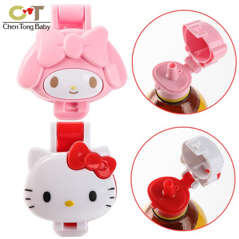 Cute Drink Bottle Saliva Bottle Replacement Cover Child's Drink Bottle Cap With Straw Protection Cover WJ01