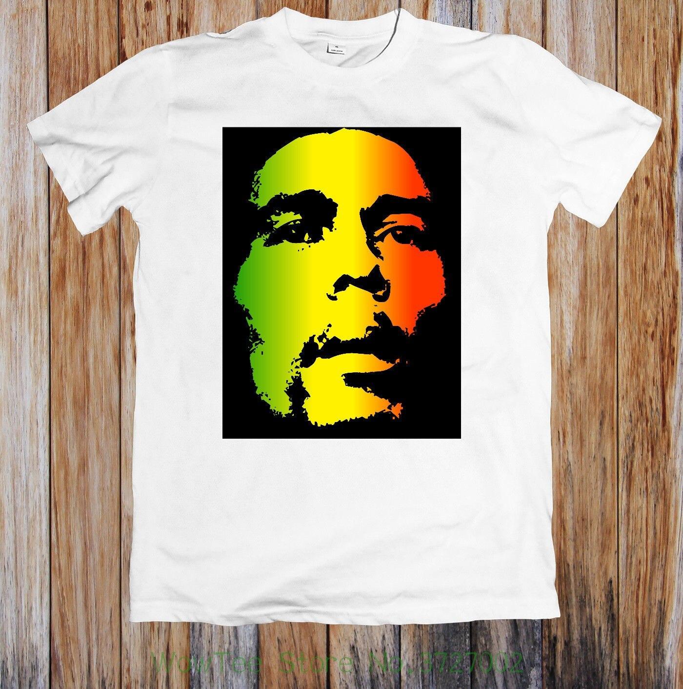 Bob Marley Unisex T-shirt 150 2018 Short Sleeve Cotton T Shirts Man Clothing Clear-Cut Texture T-shirts Men's Clothing