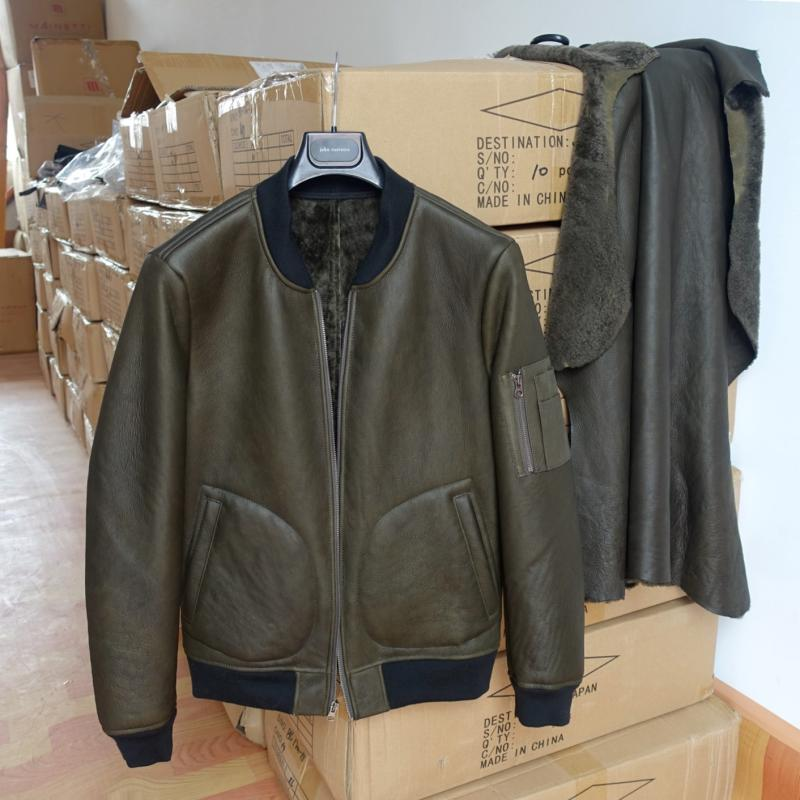 Nouveauté hommes véritable peau de mouton cisaillement pardessus mâle hiver veste chaud vêtements noir plus grande grande taille 4xl 5xl xxxxxl