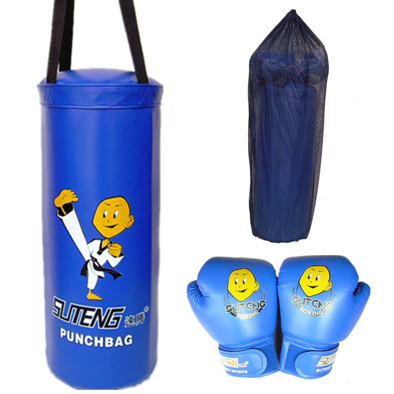 Amiable 1 Set Cartoon Children Boxing Sandbag And Gloves Sandbags Singles Fights Equipment Fighting Kids Protective Gear Set Sand Bag Matching In Colour