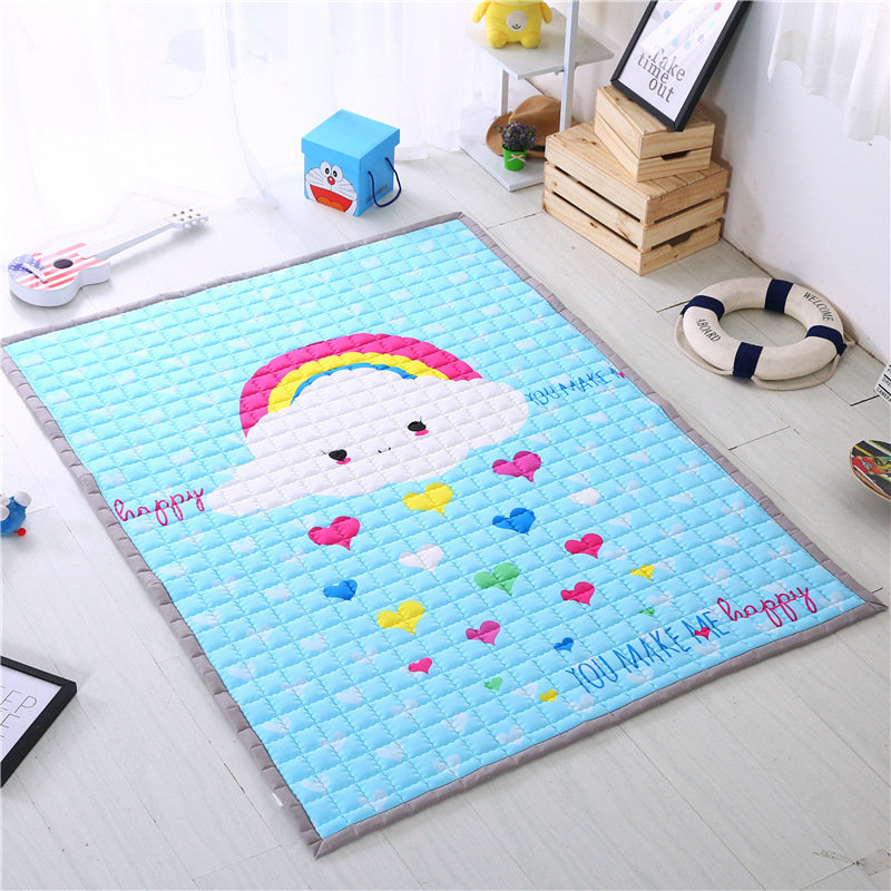 Tapis antidérapant enfants chambre bébé jeu tapis enfants jouer tapis enfant jeu tapis doux en plein air bébé ramper tapis épaissir tapis