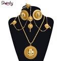 Etíope nupcial 24 K joyería plateada oro Africano fija CALIENTE/Nigeria/Sudán y Eritrea/Kenia/Habasha estilo/Wedding set A30029