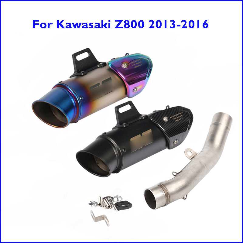 Z800 Slip-on Exhaust Muffler Pipe Tip Tail Escape End Can Modified Link Connect Tube for Kawasaki Z800 2013-2016 Exhaust System