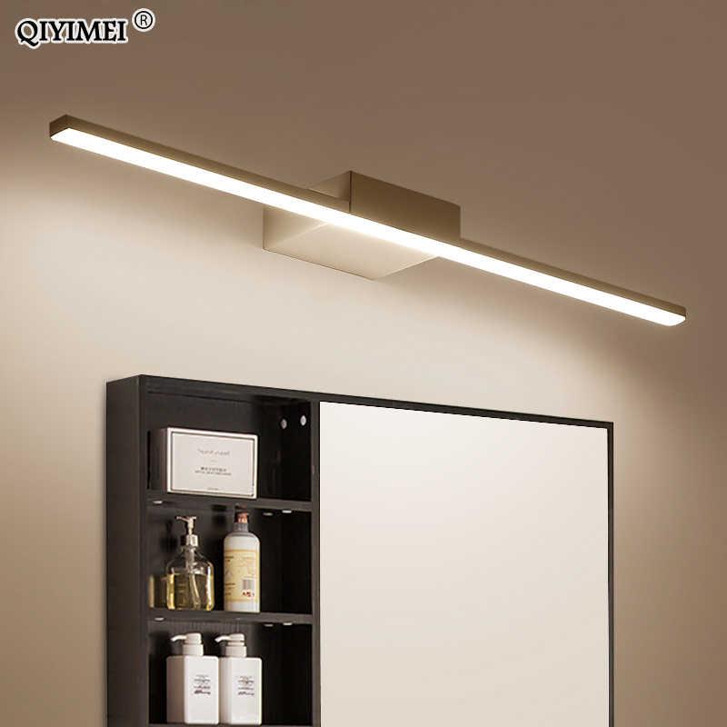 Настенный светильник Led подсветка для зеркала в ванной комнате черный/белый 400/600/800/1000/1200 мм современный макияж Туалетная комната ванная светодиодная зеркальная лампа потолочного светильника