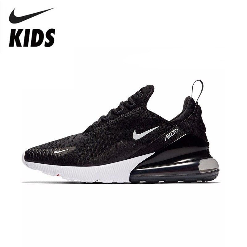 NIKE AIR MAX 270 Crianças Originais Crianças Correndo Sapatos Confortáveis Sapatos de Desporto Ao Ar Livre Tênis de Malha #943345