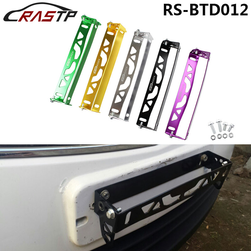 Universal Jdm Racing Mugen Car Styling Adjustable Rotating Number Plate Auto License Plate Frame License Plate Holder RS-BTD012 10pcs m6x20 car styling universal modification jdm sticker stickers password fender washer license plate bolts auto accessories